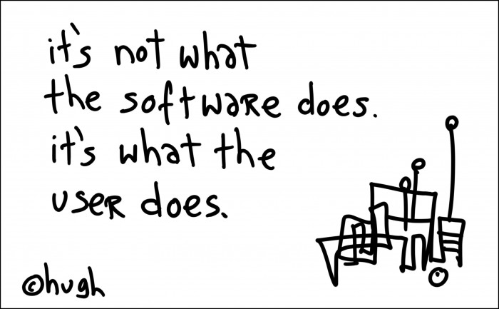 It's not what the software does