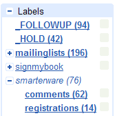 Folders4Gmail Smarterware labels