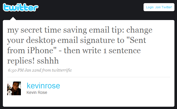 Email Time-Saving Tip