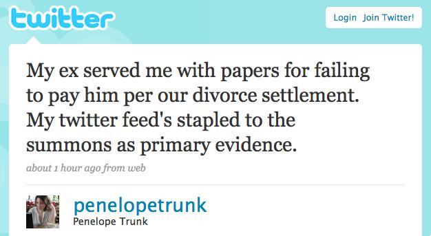 Twitter evidence