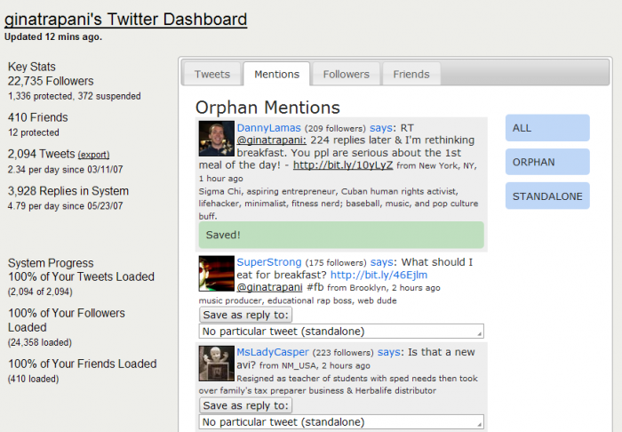 Twitalytic - Curate Mentions