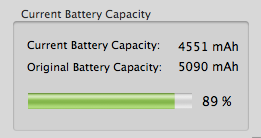 Diminished battery capacity