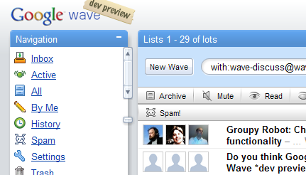 Google Wave dev preview