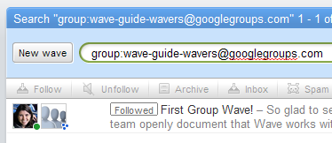 Wave group search