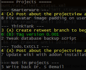 Projectview Lists Your Todo.txt by Project