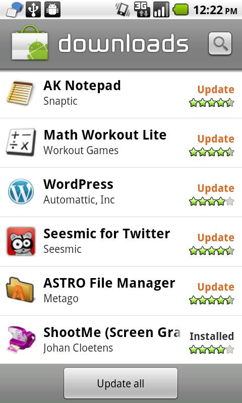 Android 2 2 Screenshots: My Favorite Features in Froyo | Smarterware