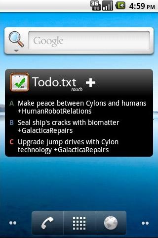 Designing the Todo txt Android Widget   Smarterware